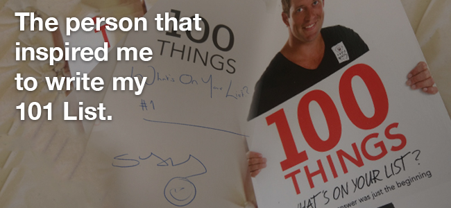 101 Things: The person that inspired me to write this list.